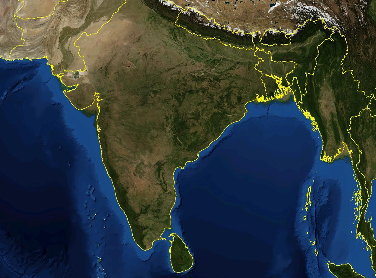 India Harta Live Prin Satelit Harta Prin Satelit Viu India Asia