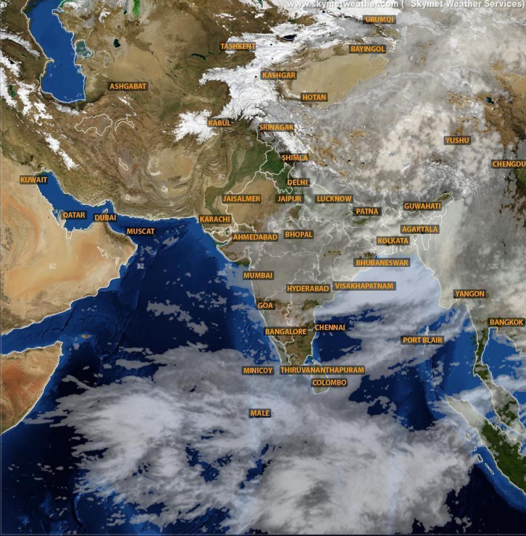 Harta Satelit Vreme India Hartă Starea Vremii Din India De La