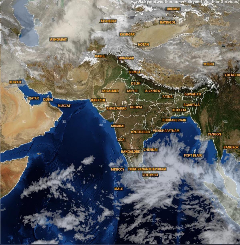 Vreme Hartă India Prin Satelit Live India Vreme Harta Satelit